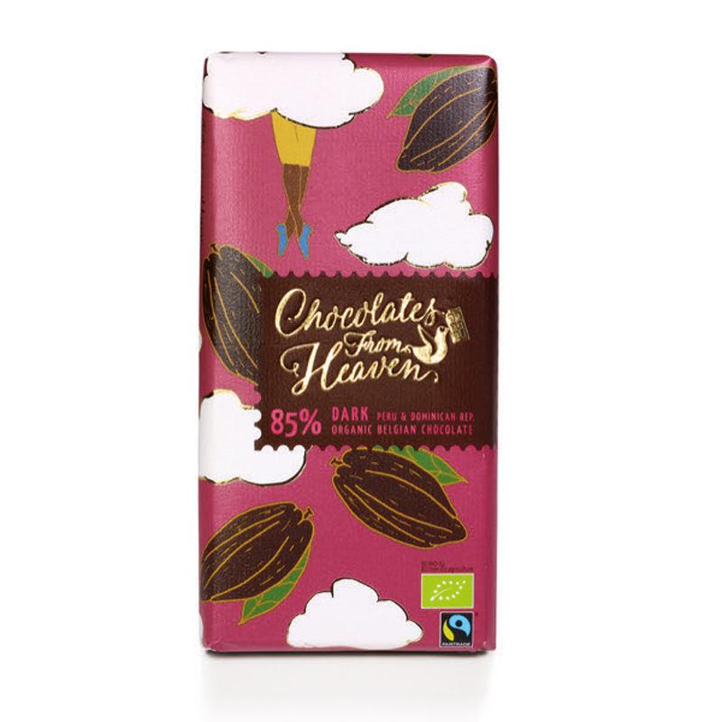 BIO hořká čokoláda Peru a Dominikánská republika 85% 100g