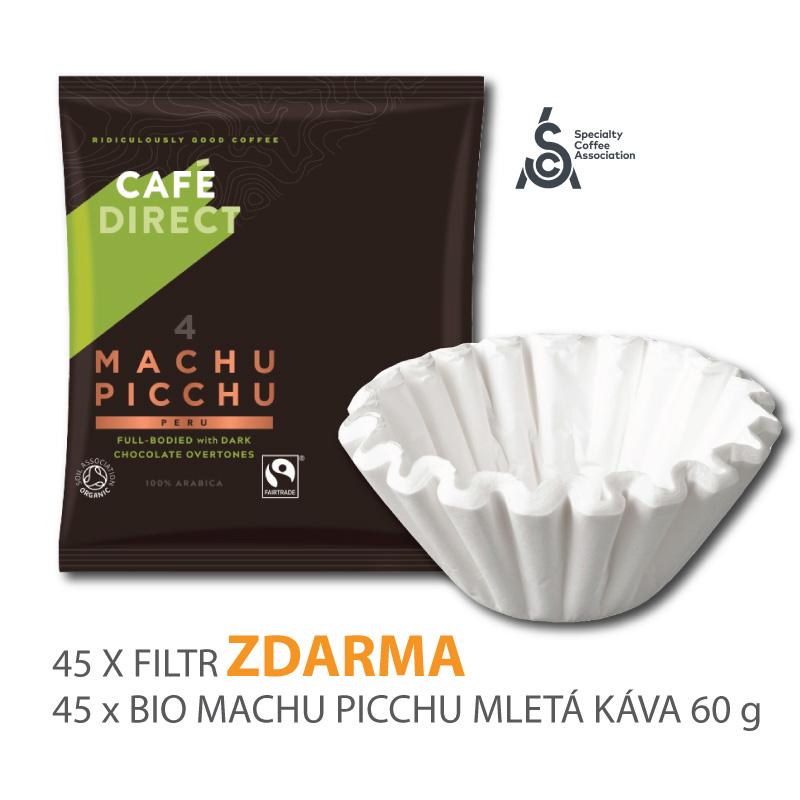 BIO Machu Picchu mletá káva 45 x 60g s filtry zdarma