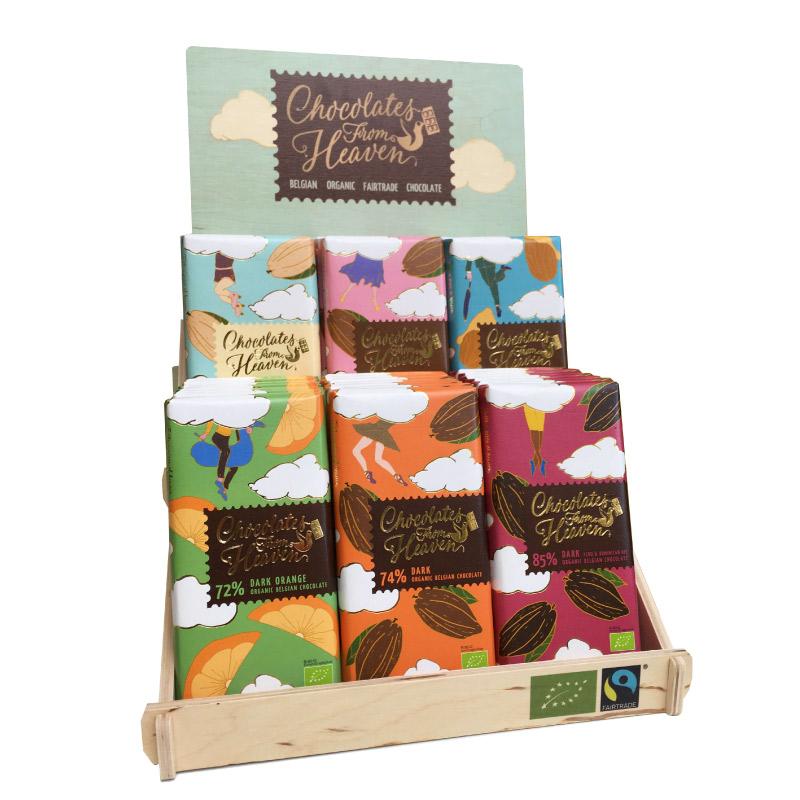Dřevěný stojan Chocolates From Heaven