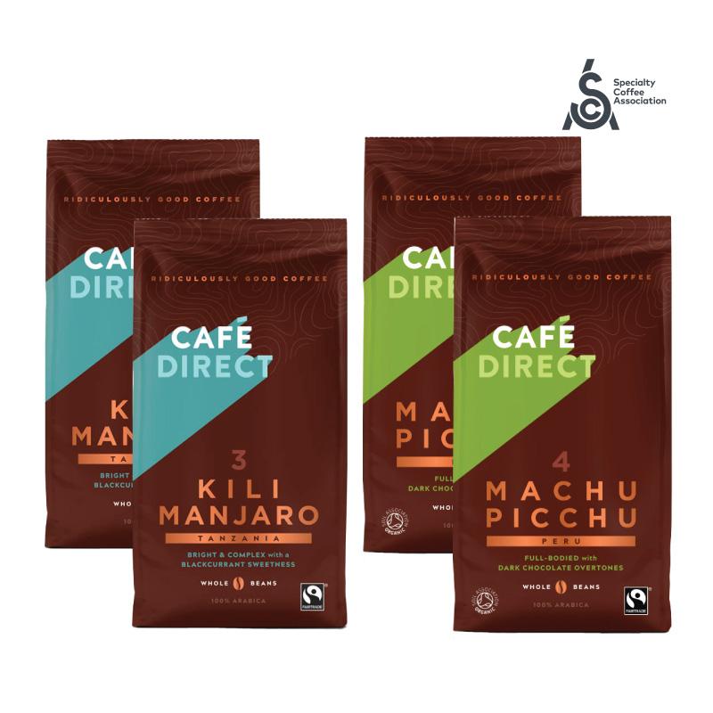 Cafédirect balíček zrnkové kávy 100% arabika Fairtrade